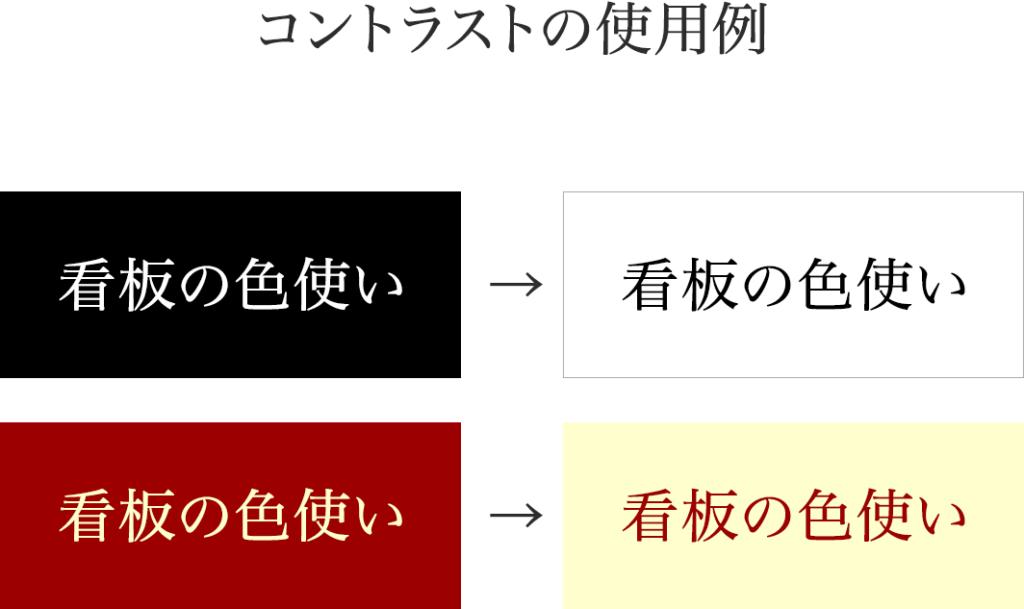 コントラストの使用例